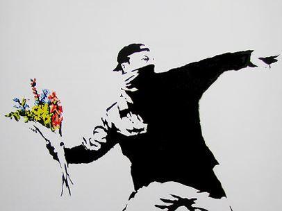 A piece from street artist Banksy