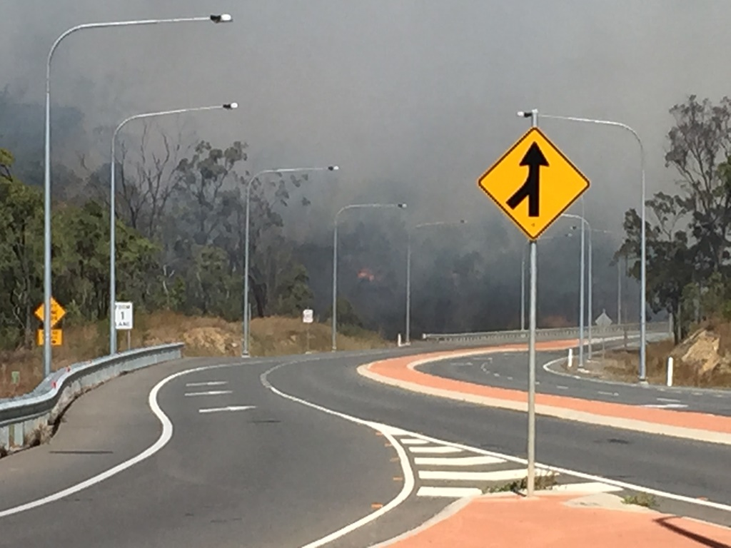 A fire is burning behind Daly Rd at Glen Eden.