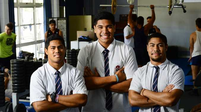 TALENT POOL: Ipswich High School rugby league players Matthew Faitotoa, Tepatasi Fuiavailili and Faitotoa Faitotoa have signed contracts with NRL clubs for the next two years.