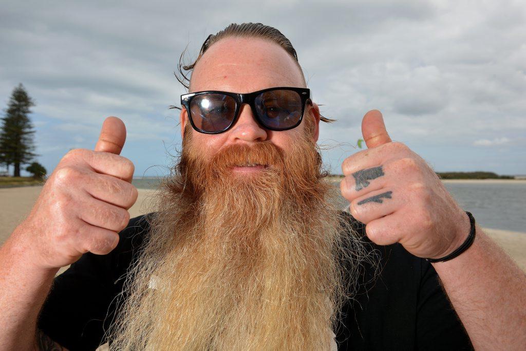 Image for sale: Nathan Coles won the Octoberfest beard compeition. Photo: Warren Lynam / Sunshine Coast Daily
