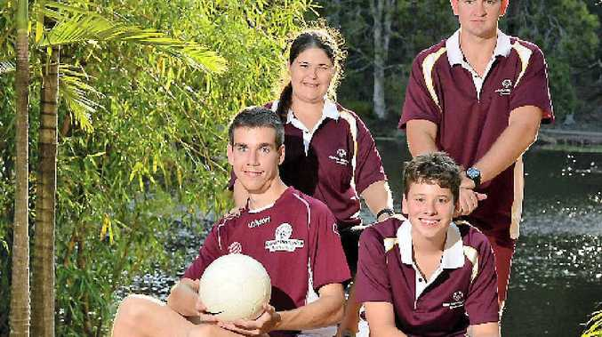 SET FOR GLORY: At rear Ruby Lawler and Kerrod Hamilton, and Adam Knust and Jarrod Lee are excited for their first Special Olympics National Games in Melbourne.