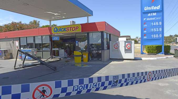 Police are investigating two ram raids in Woolgoolga early this morning, one at the United Service Station and another at the Super Cellars bottleshop in Beach St.