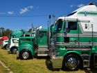 Lined up on display at Albury Showground Photo David Vile / Big Rigs