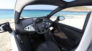 Inside the Renault Twizy.