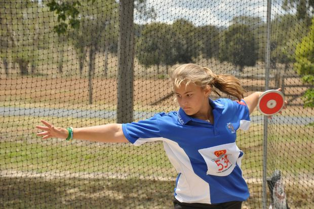 After coming third in the state in discus, Mulgildie's Jessie Moscrop will head to the national competition in Tasmania this November. Photo: Emily Smith / Central and North Burnett Times