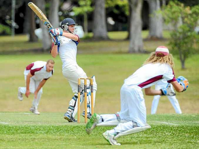 YOUNG GUN: Batsman Damon Rootes set a new club record as Diggers skipper in the weekend clash with Urunga. Photo: LEIGH JENSEN