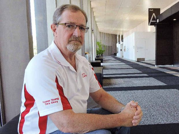 Workplace Health and Safety Queensland safety advocate Bill Martin speaks in Mackay about losing his son Tim Martin in a workplace accident.