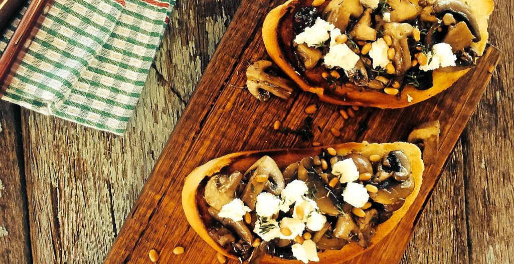 Dan and Steph's mushroom ragout on sourdough.