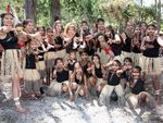 The Butchulla people have been officially recognised as the traditional owners and native title holders of Fraser Island during a ceremony at Kingfisher Bay Resort - Traditional dancers.