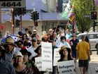Scores of people marched for multiculturalism in Toowoomba yesterday.