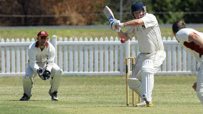 IN CONTROL: Laidley batsman Brendan O'Keefe takes charge at the crease during his innings of 94 against Centrals on Saturday.