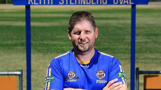 HOLDING COURT: Paul Court has retired after playing for 19 years with the Northern Suburbs Rugby League Club.