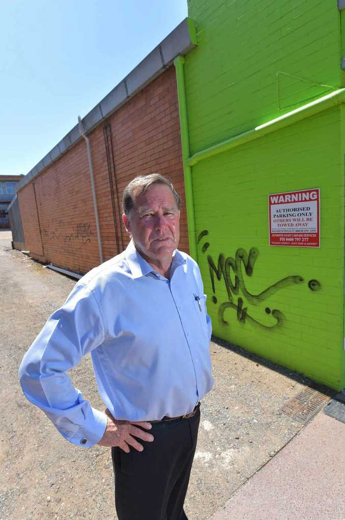Councillor Greg Rogerson is sick of the graffiti around Nambour.