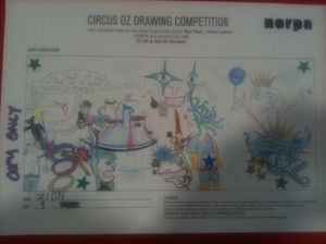 Circus Oz drawing competition