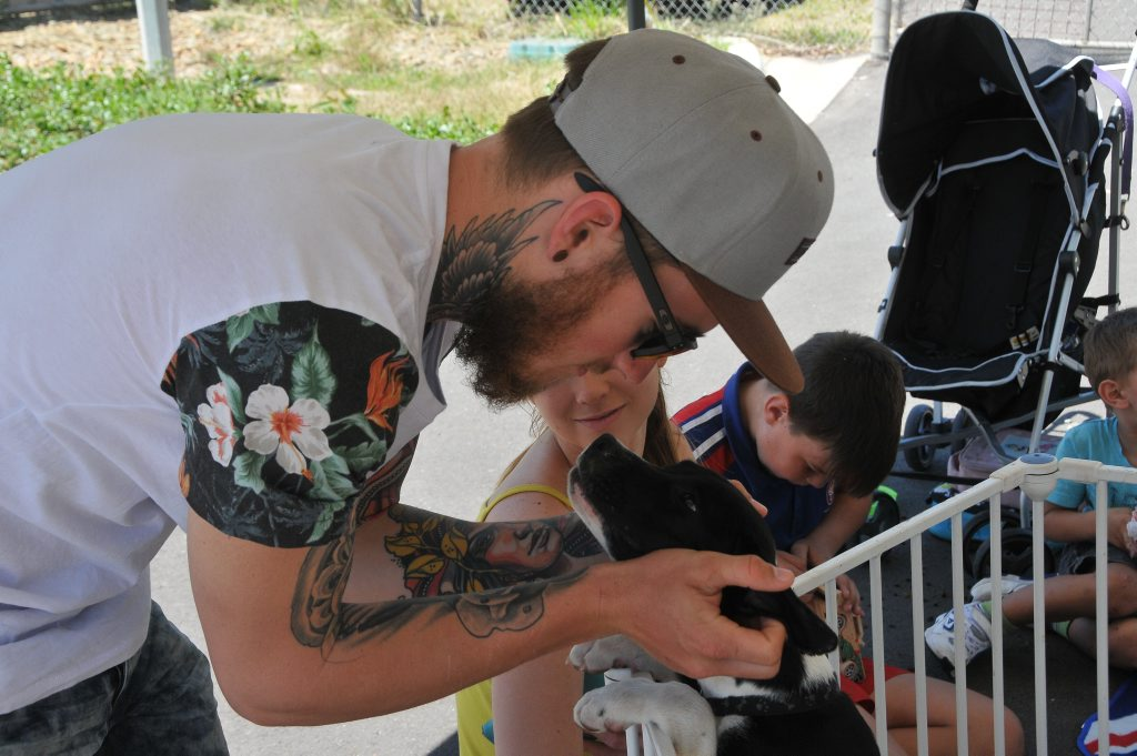 Jordan Hoiberg and Monique Hagen adopted Rosie at the RSPCA Dog Adoption Day on Sunday.