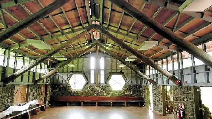 LABOUR OF LOVE: Hanging Rock Hall rebuilt by local community.