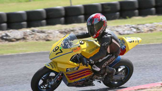 HOT TIMES: Thomas Brown in a North Coast Road Racers junior class race at Lismore kart track at the weekend.