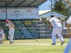BIG HIT: Yaralla's Dylan Cross during the Yaralla v Rockhampton Brothers cricket match at the Yaralla Oval.