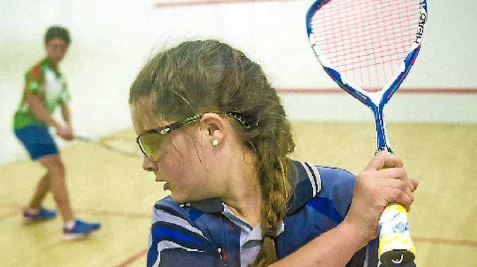 Kurstyn Mather during the Gladstone Junior Squash Open.