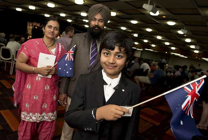 BRIGHT FUTURE: Bhupinder Kaur and Malkeet Singh with their son Manjasdeep Singh are confident about their futures.