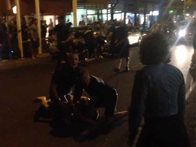 HUGE brawl in Byron Bay