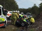 VIDEO: Man flown to Brisbane after hwy crash