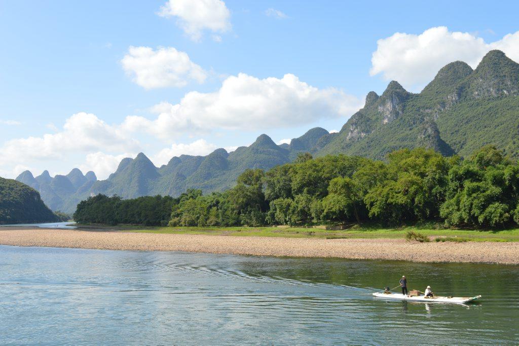 Cruising on the Li River toward Yangshuo Photo Megan Mackander / Sunshine Coast Daily