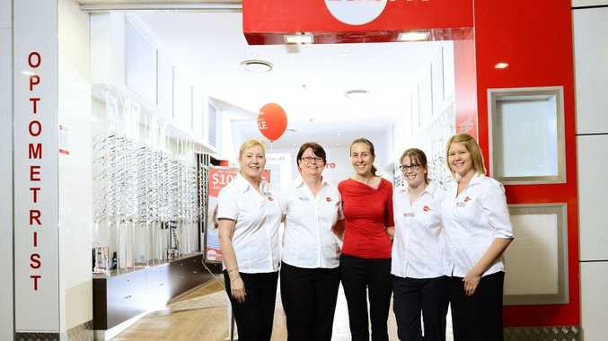 EYE FOR DETAIL: Lens Pro Booval staff (from left) Wendy Armstrong, Tracey Dwyer, Kylie Phillis, Mikaela Bartlam and Renee Richardson.