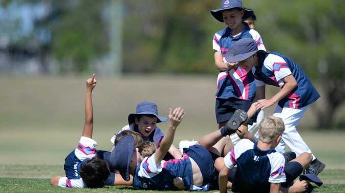 CRICKET ACTION: The St Mary's cricket team celebrate their win at Kendalls Flat. Photo: Mike Knott / NewsMail