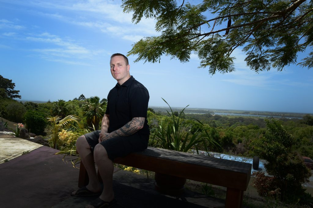 Josh Paish has been a security guard at the Beach Hotel in Byron Bay for the last 17 years.