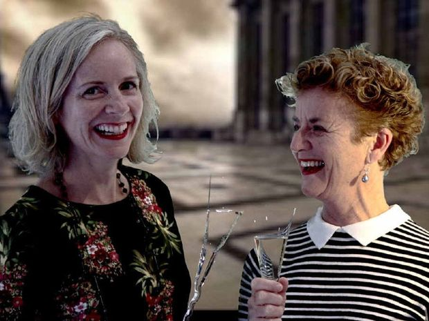 FILM BUFFS: Fiona Foulkes and Lynne Clerk are the cinemaphiles behind this weekend's European Film Festival.