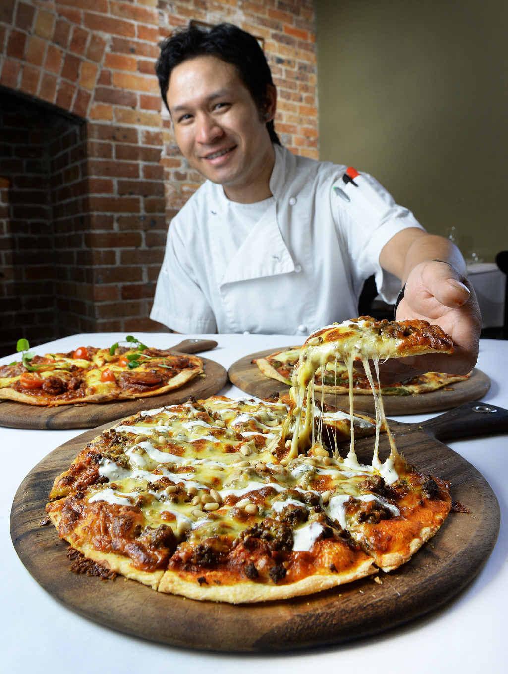 ITALIAN INSPIRED: Head chef Sudesh Shretha helped create the new range of pizzas at Stumps.