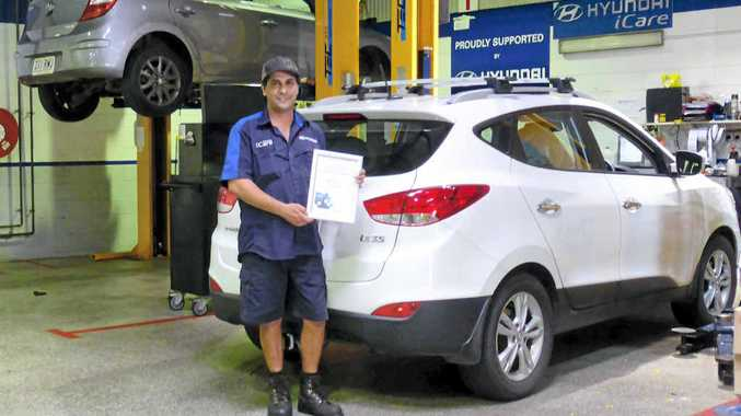 Mackay man Daniel Burow has won the title of National Service Technician of the year at the Hyundai National Skills Competition.