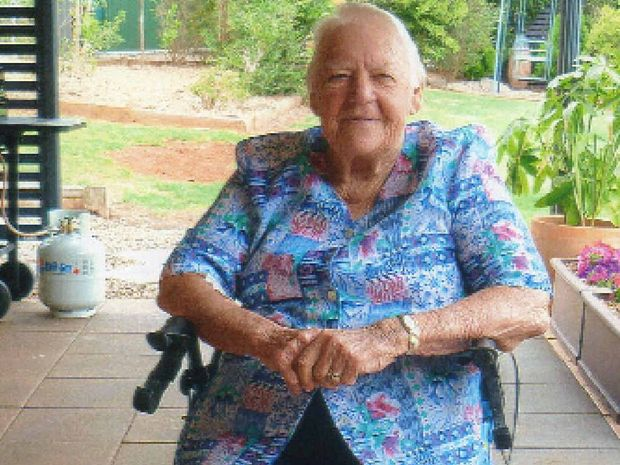 STALWART: Retired Lifeline volunteer Ailsa Hamill. She volunteered in Mackay Lifeline shops for 35 years.