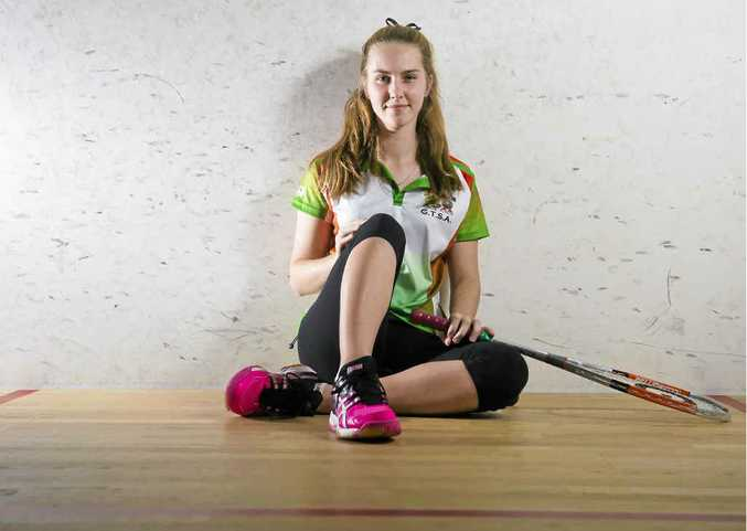 GREAT PERFORMANCE: Emily Turner won a silver medal at the Australian Junior Squash Championships.