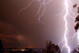 Lightning storm over Sunshine Coast hinterland