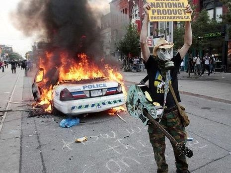 Protesters linked to the Black Bloc movement targeted the G20 summit in Toronto in 2010.