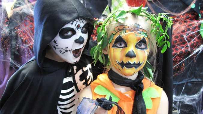 Brunswick Heads Public School students Chaz Crazy Eyes Coleman and Misty Pumpkin Pie Fahy