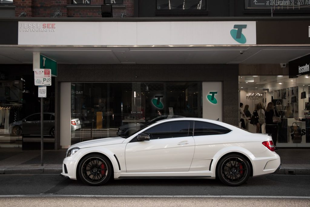 The mean 2012 Mercedes-Benz C63 AMG Black Series.
