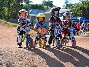 Riders on track