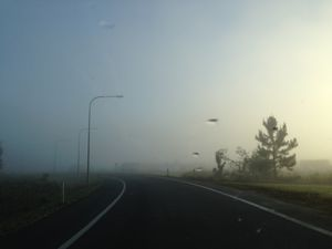 Sunshine Coast's spooky fog to lift, heat to stay