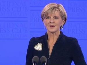 Julie Bishop answers leadership question