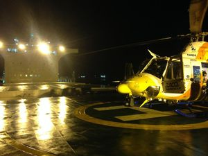 RACQ CQ Rescue airlifts man with chest pain