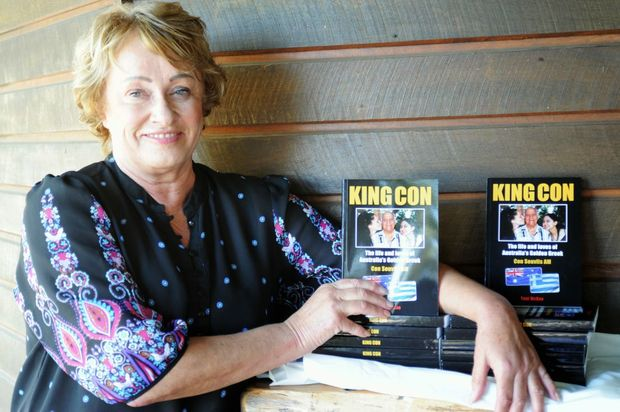 Author Toni McRae at the launch of Con Souvlis' book, 'King Con' which was one of many she wrote.