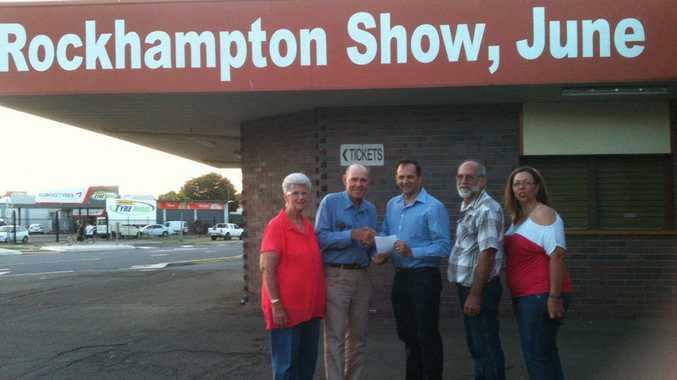 Deputy Mayor Tony Williams (centre) discusses plans for the 2015 show with Rockhampton Agricultural and Citizens Show Society members Dawn Hay, Robert Smith, Peter Curtis and Julie Collins.