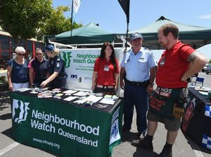Snags and safety talk at police stall in Bunnings car park