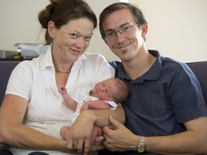 Highway birth all in a day's work for dad