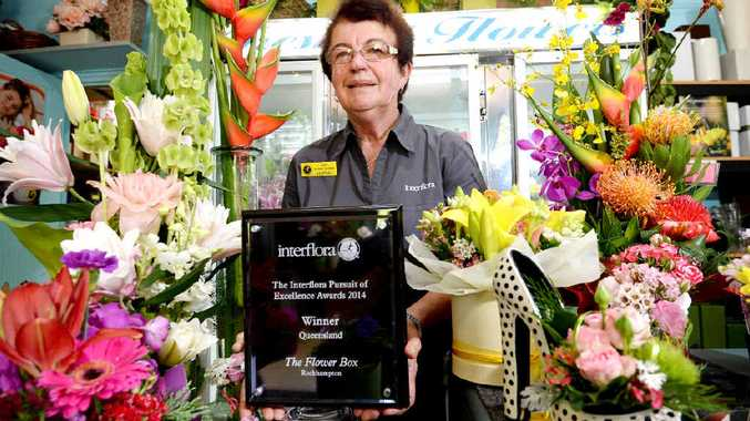 QLD'S PICK: Rockhampton's Lynn Russell is looking forward to spreading the happiness around town with her award-winning floral arrangements.