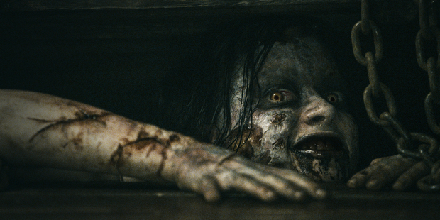 A scene from the 2013 remake of the movie Evil Dead.