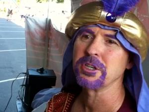 The purple merchant of the Jacaranda Festival
